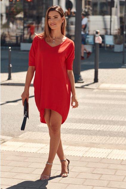 Oversize červené šaty Fasardi