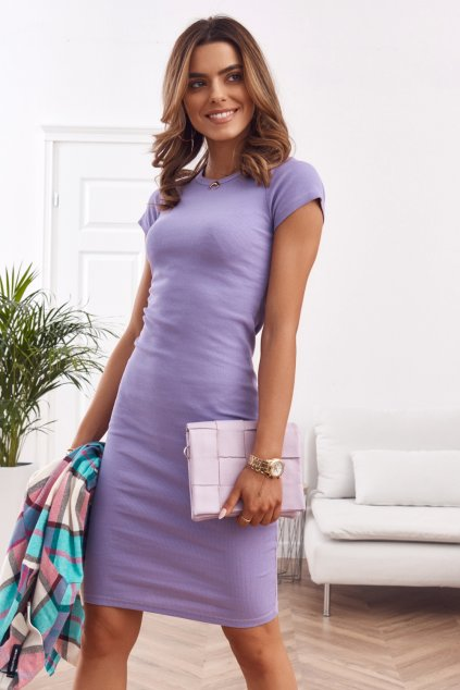 Sportovní šaty fialkové Fasardi