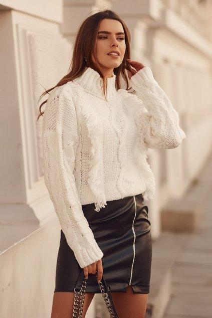 Černá koženková sukně Fasardi
