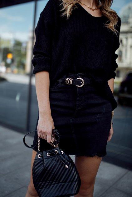 Černá džínová sukně Fasardi