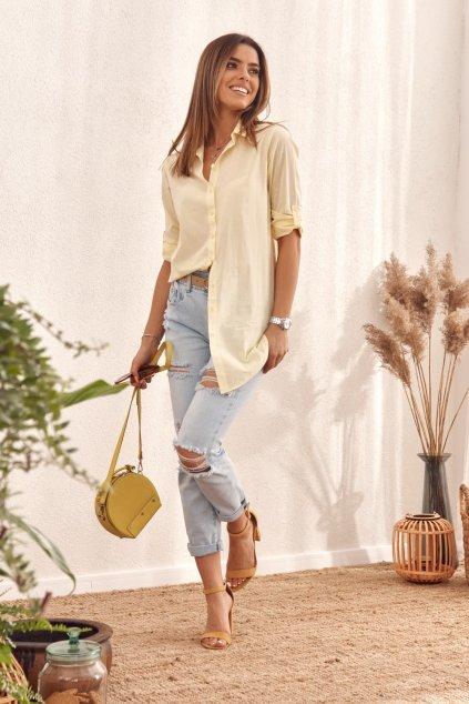 Žlutá košile Fasardi