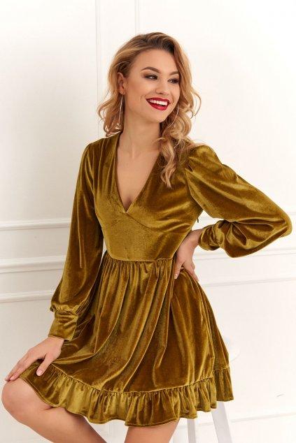 Šaty s volánky Fasardi zelené