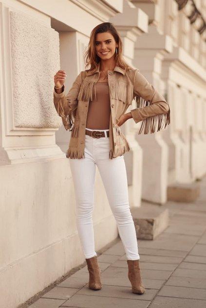 Bílé džínové kalhoty Fasardi