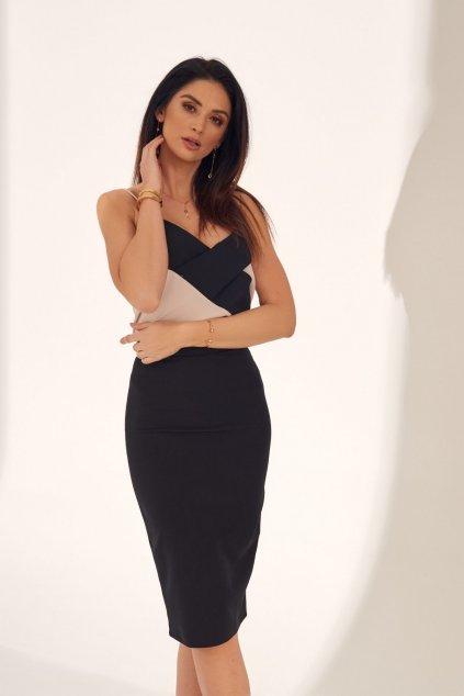 Elegantní pouzdrová černá sukně Fasardi