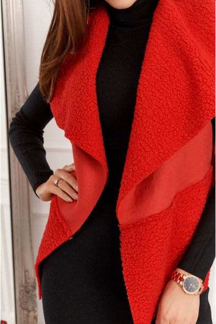 Dámská červená vesta Fasardi
