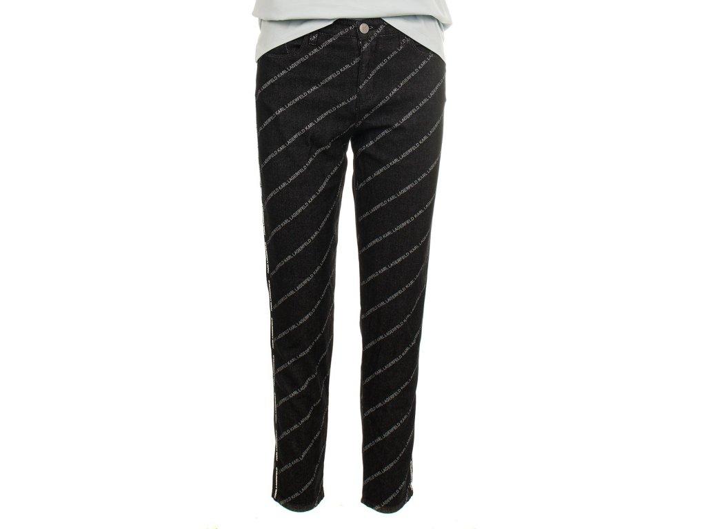 Karl Lagerfeld dámské džíny černé