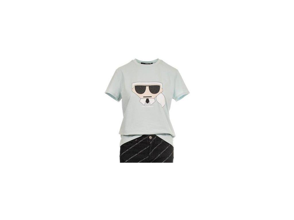 Karl Lagerfeld dámské tričko modré