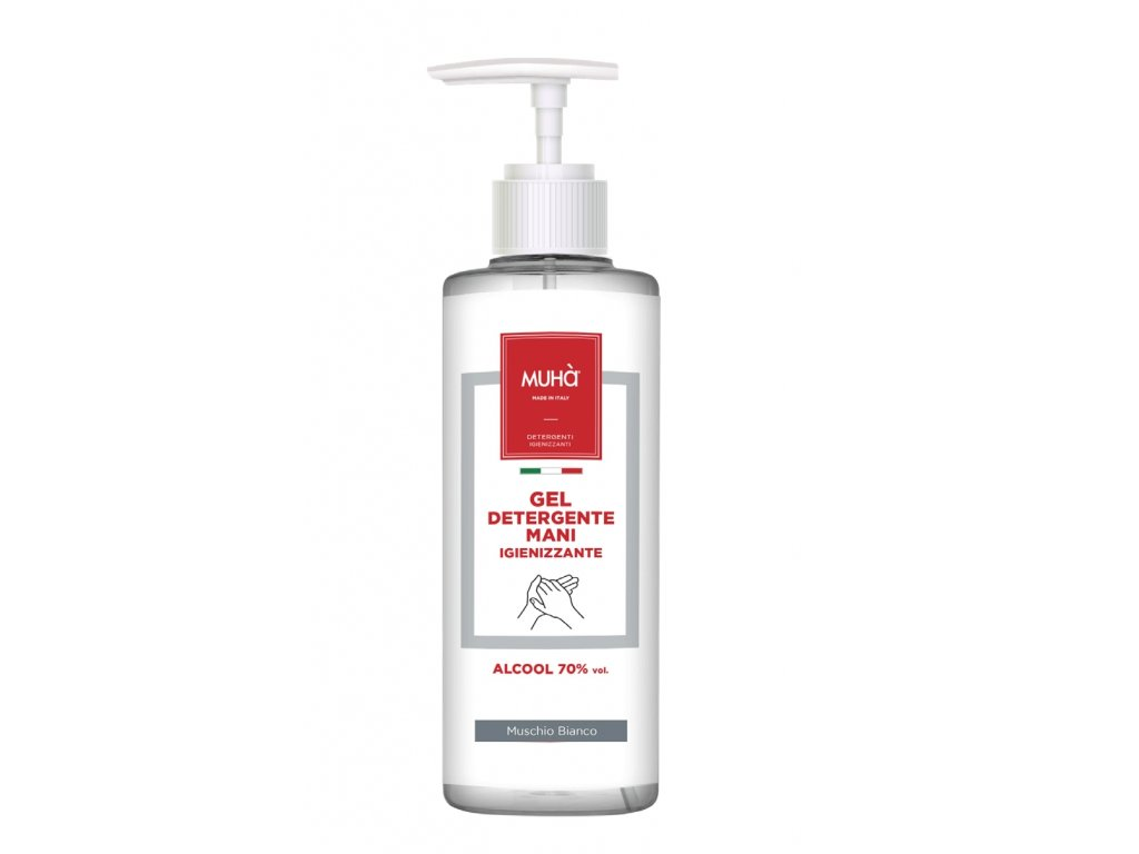 IG19 MUHA parfémovaný dezinfekční gel na ruce Muschio Bianco 500 ml