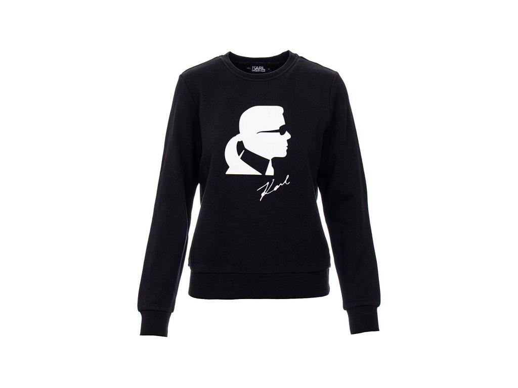 KL83 Karl Lagerfeld dámská mikina černá (1)