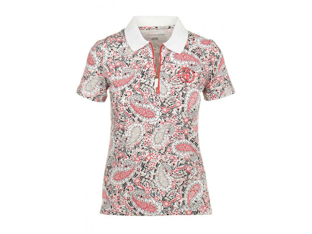 Tommy Hilfiger dámské polo tričko se vzorem