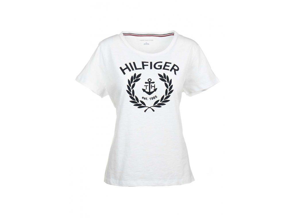 TH30 Tommy Hilfiger dámské tričko bílé (1)