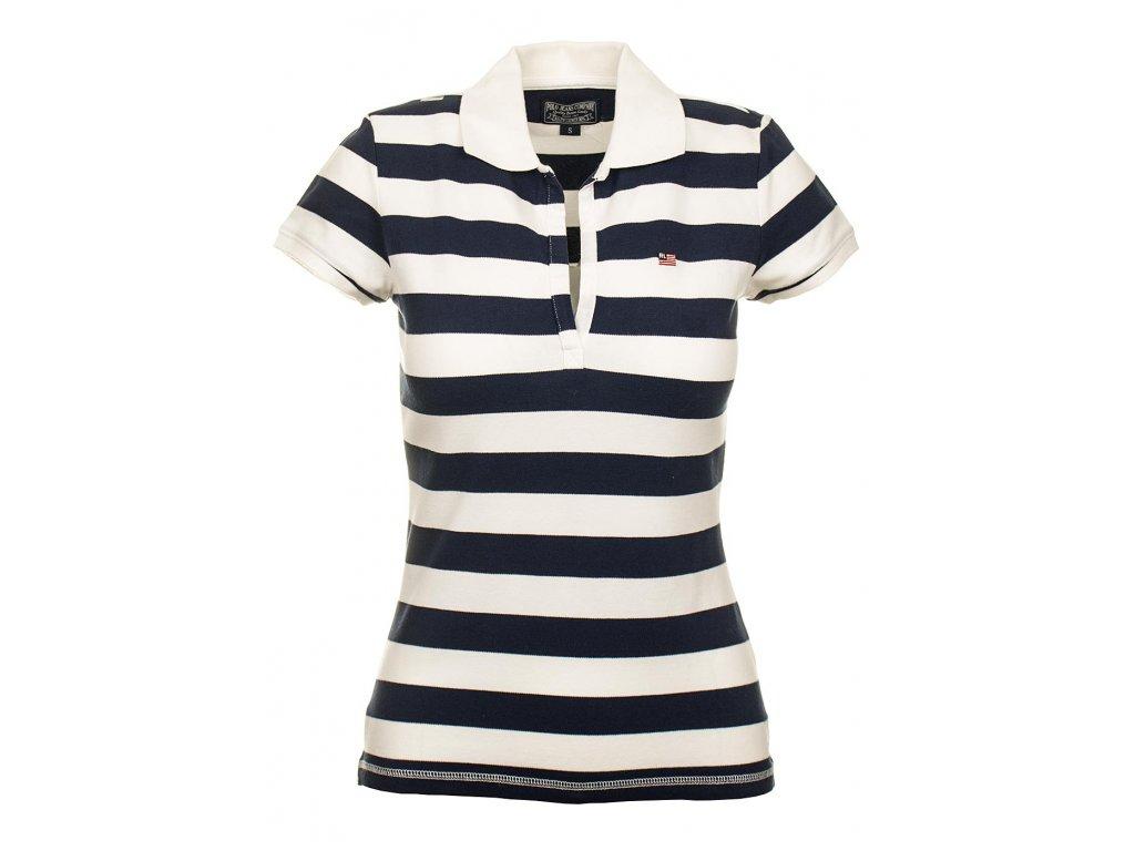 Ralph Lauren dámské polo tričko bílo modré pruhované