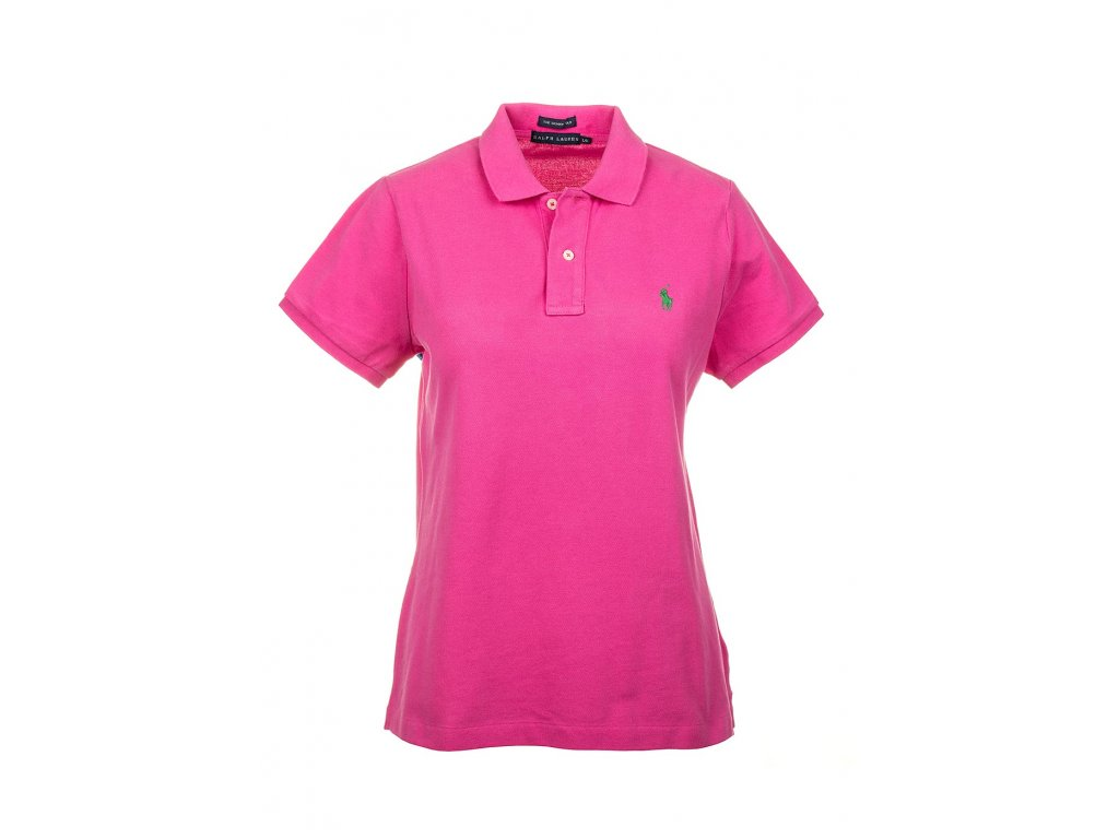 RL69 Ralph Lauren dámské polo tričko růžové (1)