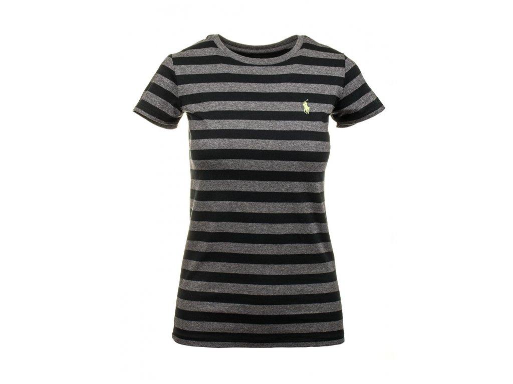 RL64 Ralph Lauren dámské tričko černošedé (1)