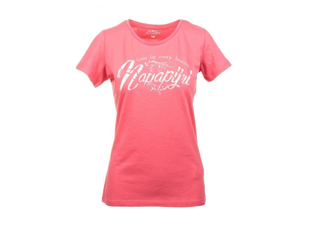 Napapijri dámské tričko růžévé s nápisem