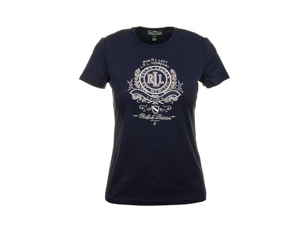 RL60 Ralph Lauren dámské tričko modré (1)