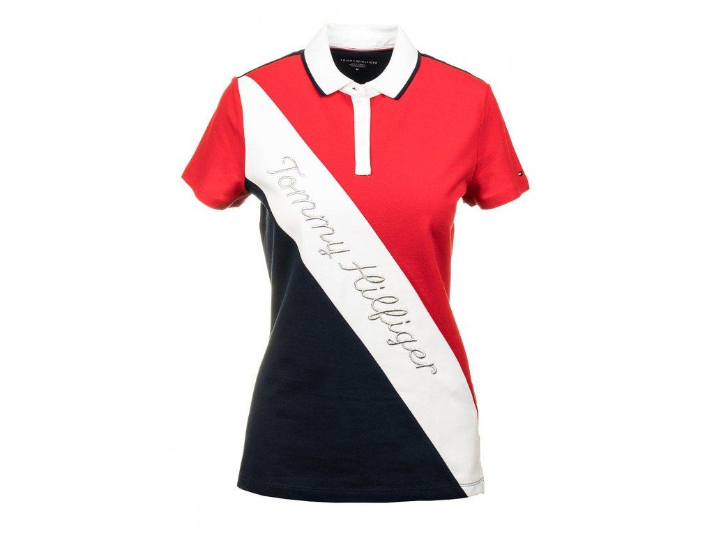 TH41 Tommy Hifigerdámské polo tričko červené (1)
