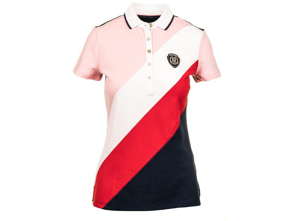 TH36 Tommy Hilfiger dámské polo tričko růžové (1)