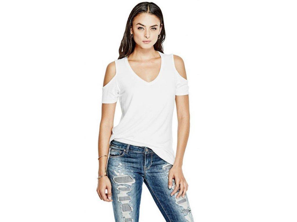 GU166 Guess dámské tričko bílé (1)
