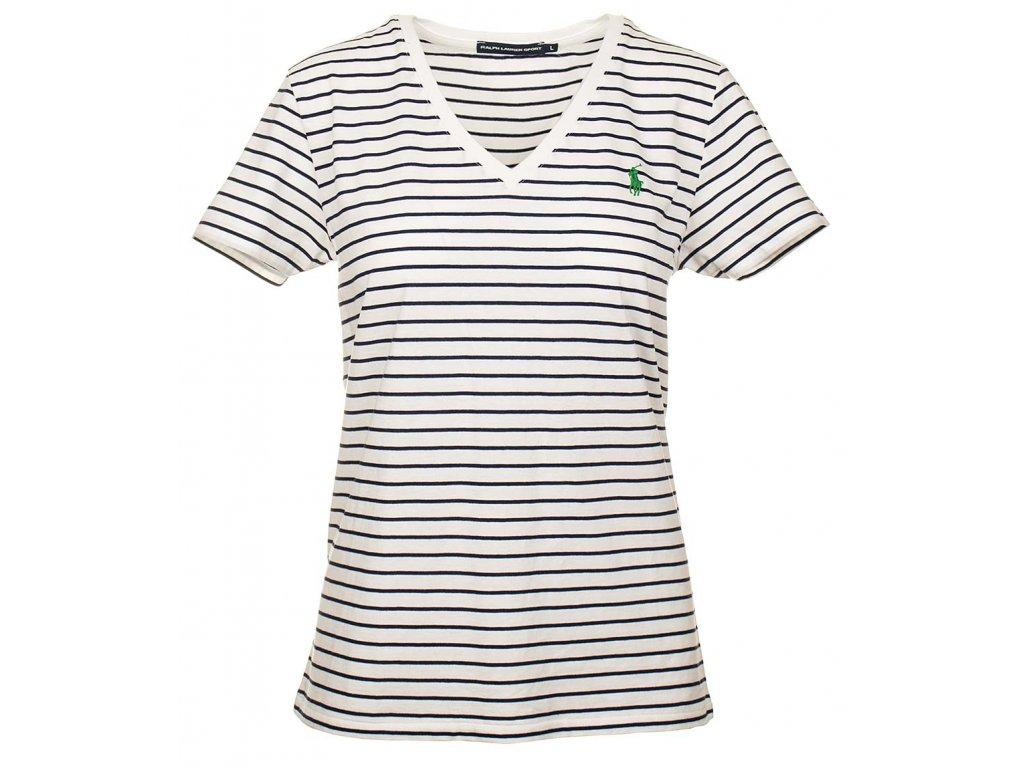 RL86 Ralph Lauren dámské tričko bílé (1)