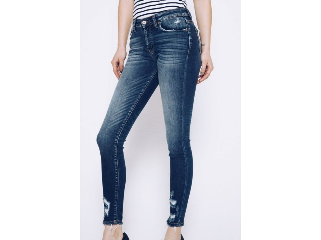 KC12 KanCan dámské džíny modré (5)