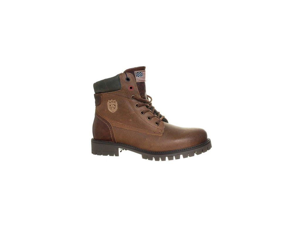 USP8 Polo dámské kotníkové boty hnědé