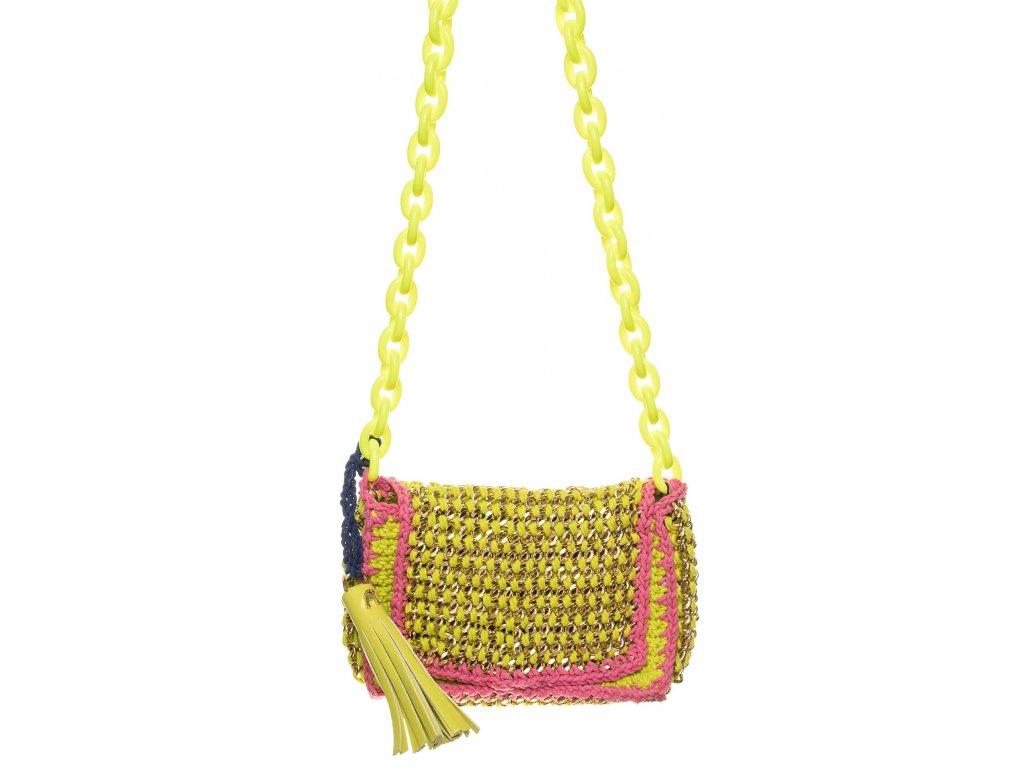 Replay dámská kabelka žlutorůžová