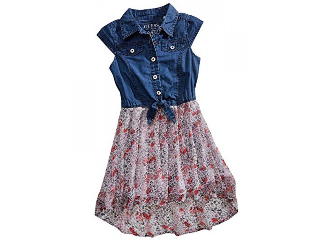 GU64 Guess dětské šaty modré