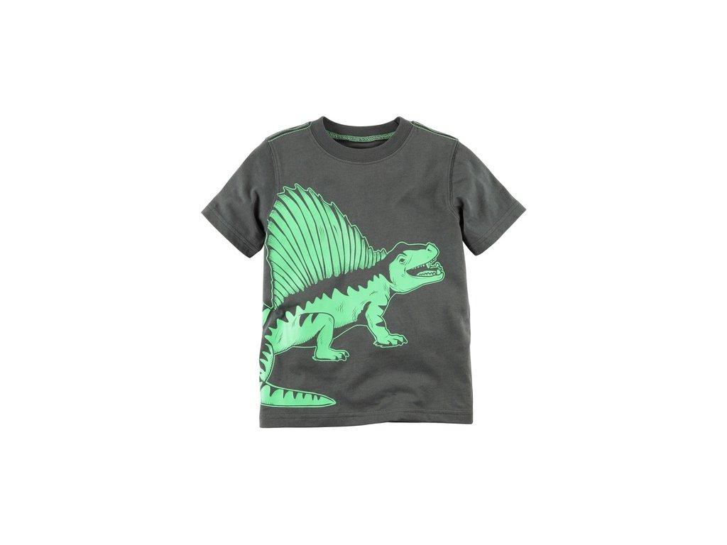 CR41 dětské tričko šedozelené