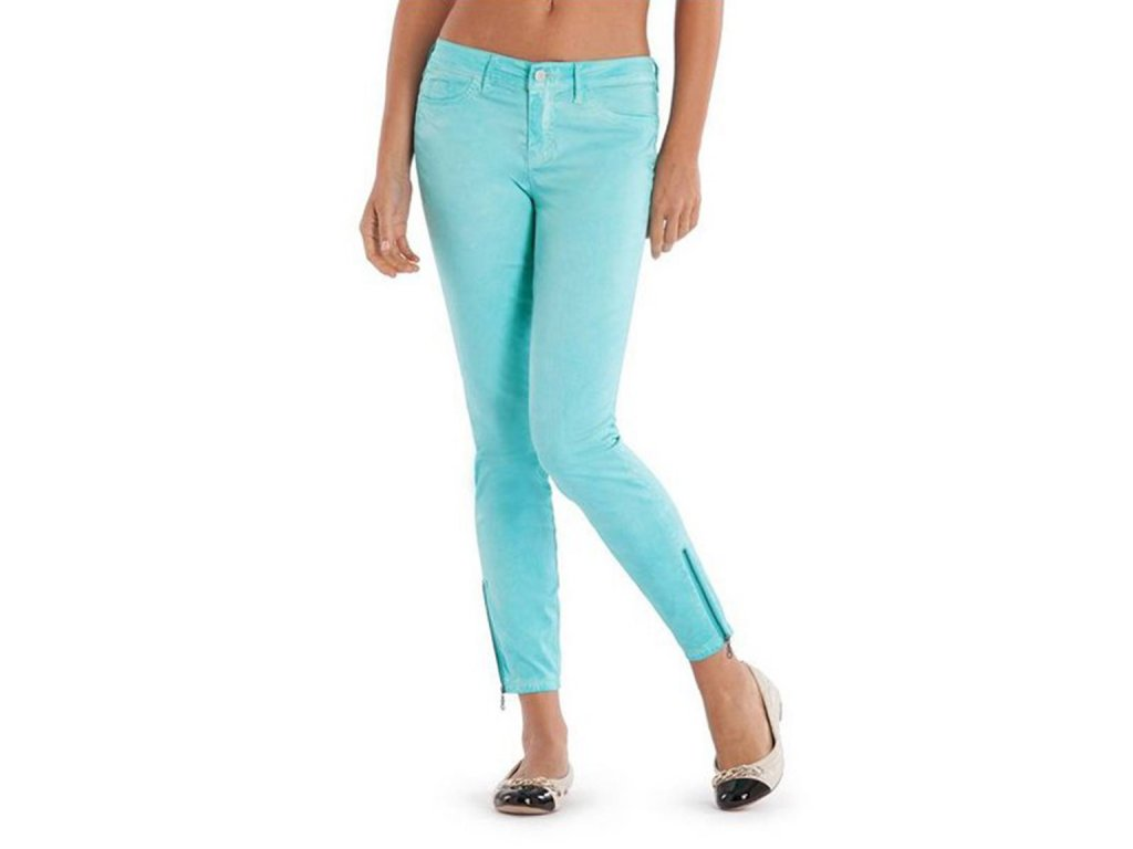 GU282 GUESS kalhoty Brittney Ankle Skinny with Zip