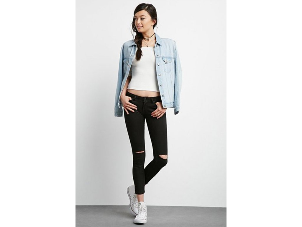 FE3 1 Forever 21 jeans Distressed Skinny