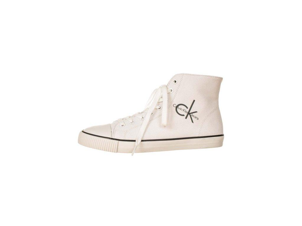 Calvin Klein kotníkové boty bílé