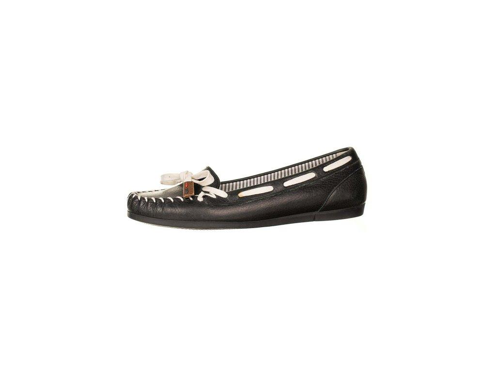 Tommy Hilfiger dámské mokasíny kožené černé