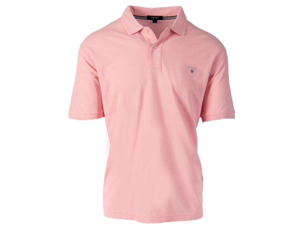 Gant pánské polo tričko růžové
