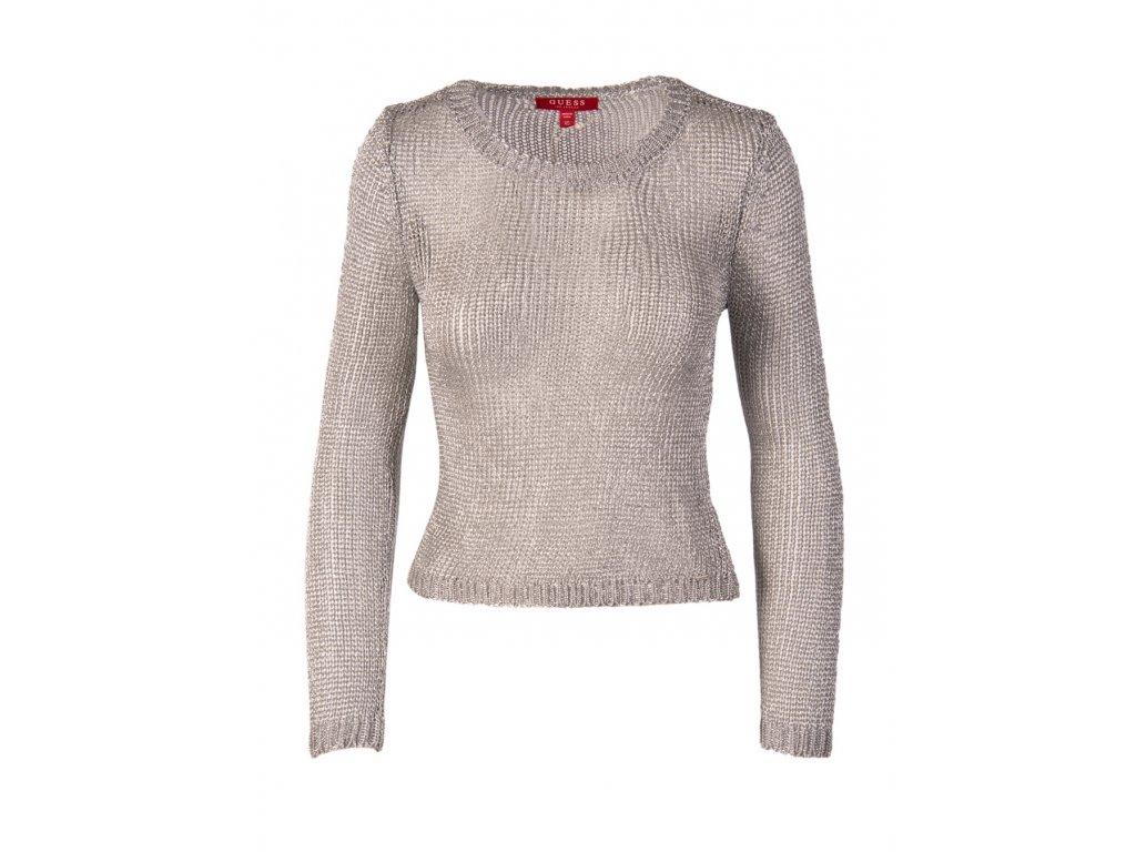 GU8 Guess dámský svetr stříbrný (1)