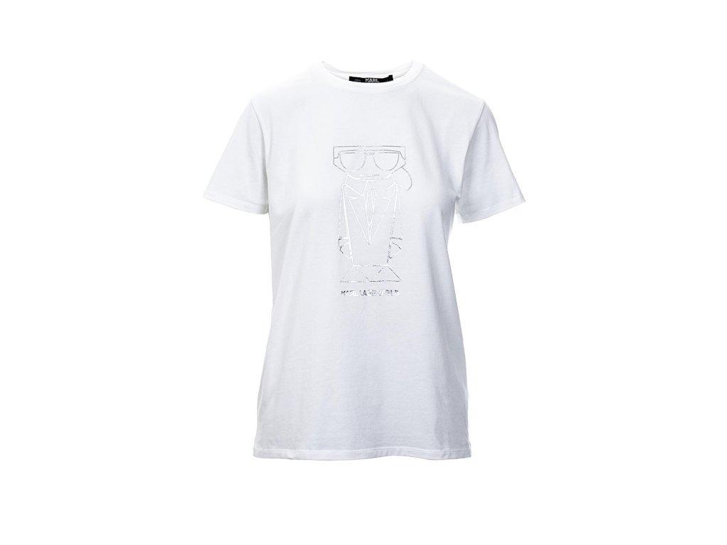 FAO351 Karl Lagerfeld tričko bílé (1)