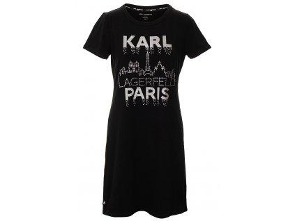 KL69 Karl Lagerfeld Dámské šaty černé (1)