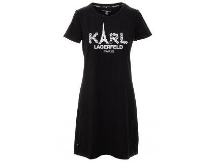 KL70 Karl Lagerfeld Dámské šaty černé (1)