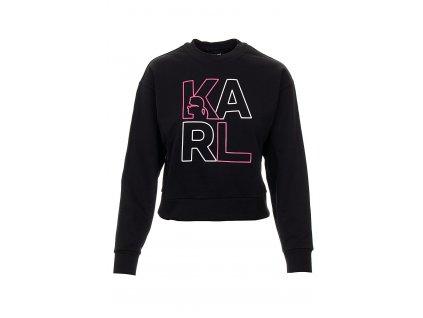 KL75 Karl Lagerfeld dámská mikina černá (4)