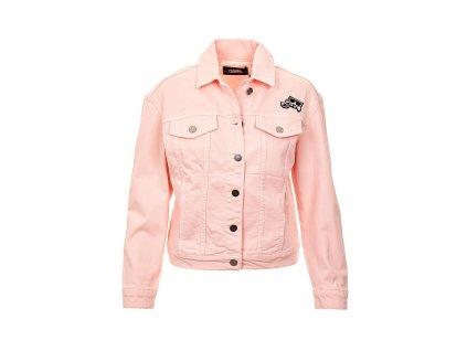 KL77 Karl Lagerfeld dámská džínová bunda růžová (1)