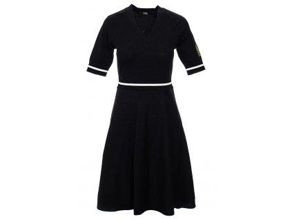 KL81 Karl Lagerfeled dámské šaty knit černé (5)