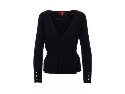 GU493 Guess dámský svetr janet cardigan černý (1)