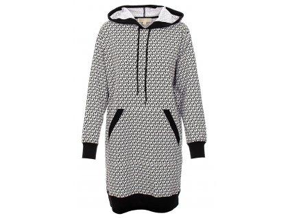 MK148 Michael Kors dámské mikinové šaty černo bílé (1)