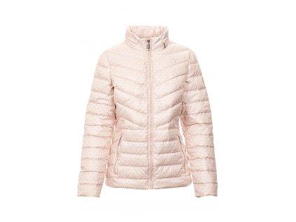 MK150 Michael Kors dámská bunda péřová růžovo bílá (1)