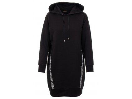 MK153 Michael Kors dámské mikinové šaty s pruhy černé (5)