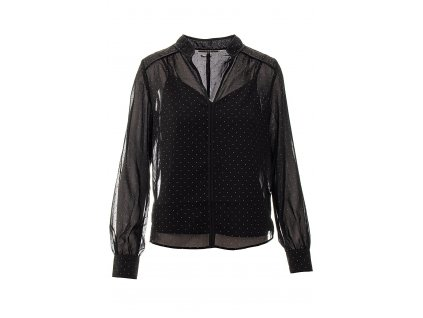 GU500 Guess dámská halenka černá průsvitná se spodničkovým topem