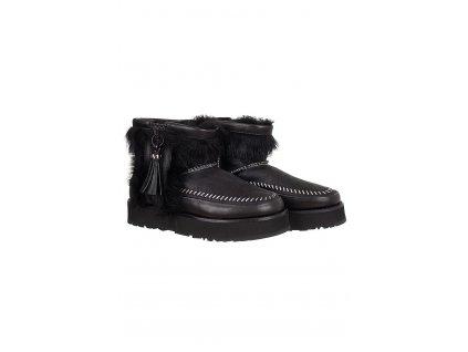 UGG28 UGG dámské boty Fluff punk černé (1)