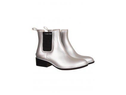 CK74 Calvin Klein dámské kotníkové boty stříbrné (1)