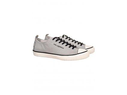 KL87 Karl Lagerfeld pánské plátěné tenisky šedé (1)