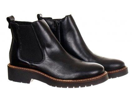 ZI27 Zign dámské Chelsea boty na zip černé (2)